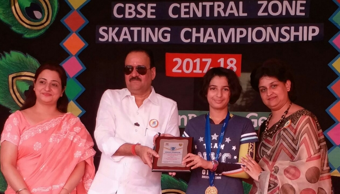 Kaushiki Of Class VII Won CBSE Central Zone Skating Championship